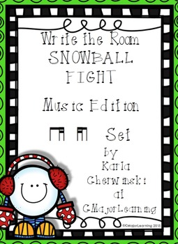 Write the Room Snowball Fight! Music Edition ti-tika tika-ti Set