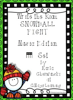 Write the Room Snowball Fight! Music Edition tika tika (sixteenth notes) Set