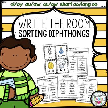 Sorting Diphthongs - Write the Room