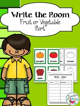Fruits and Vegetables Sort Write the Room