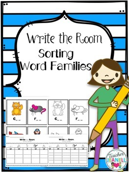 Sorting Word Families - Write the Room