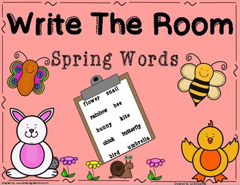 Write the Room Spring Words