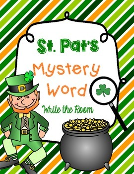 Write the Room *St. Patrick's Version* with Mystery Word!