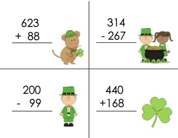 Write the Room Stacking Activity - St. Patricks Day