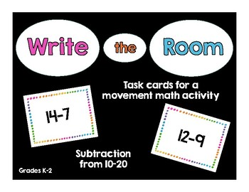 Write the Room Subtraction 10-20