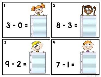 Write the Room-Subtraction Facts