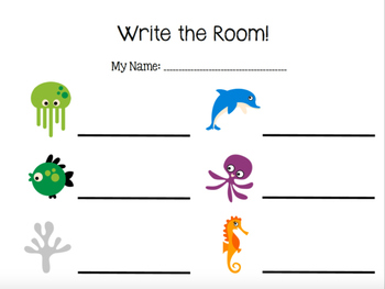 Write the Room (Ta Ti-ti) Sea Animals