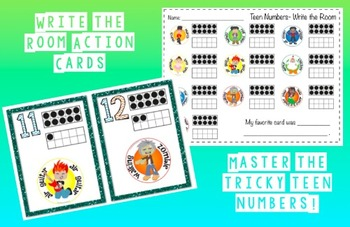 Write the Room-Teen Number Action Cards