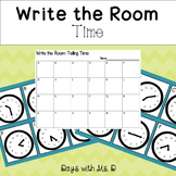 Write the Room: Telling time to the 5 minute