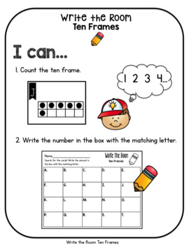 Write the Room Ten Frames and Dot Cards to 20