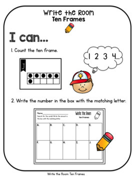 Write the Room Ten Frames to 10
