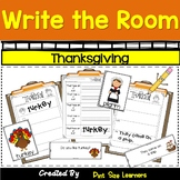 Write the Room Thanksgiving Kindergarten through 2 Differentiated