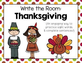 Write the Room: Thanksgiving Sentences
