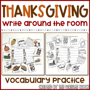 Write the Room Thanksgiving Vocabulary