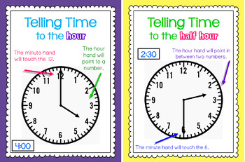 Write the Room - Time to hour & half hour BUNDLE
