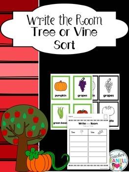 Tree and Vine Sort Write the Room
