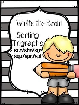 Write the Room - Sorting Trigraphs - 3 Letter Blends