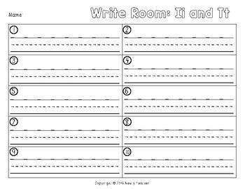 Write the Room - Tt and Ii