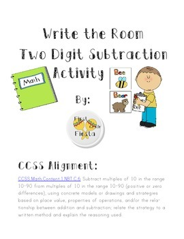 Write the Room Two Digit Subtraction English and Spanish