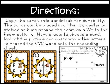 Write the Room~ Unscramble and Record CVC Words