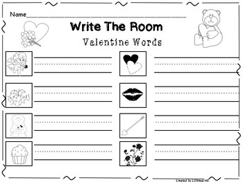 Write the Room Valentine Words