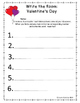 Write the Room: Valentine's Day