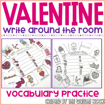 Write the Room Valentine's Day Vocabulary