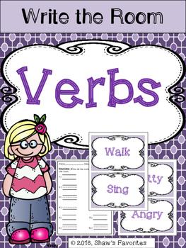 Write the Room {Verbs}
