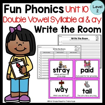 Write the Room Vowel Team AI and AY Level 2 Unit 10