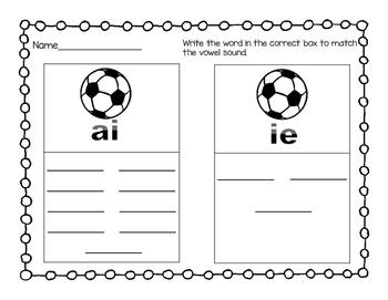 Write the Room (Vowel Team ai & ie)