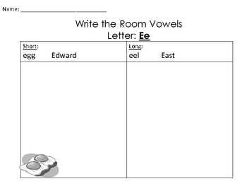 Write the Room: Vowels