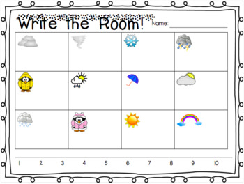 Count Around the Room: Weather