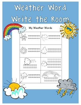Write the Room: Weather Themed