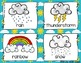 Weather Write the Room -16 cards (four versions, four recording sheets)