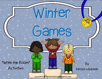 Write the Room Literacy Center - Winter Games