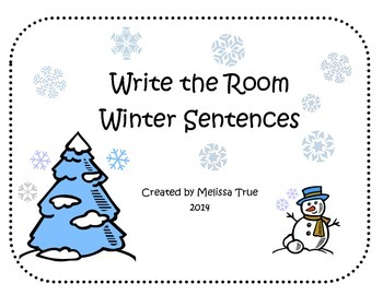 Write the Room Winter Scrambled Sentences