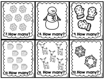 Winter Math Centers- Write The Room Counting Cards