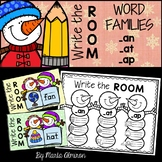 Write the Room {Winter} WORD FAMILIES AT, AN, AP