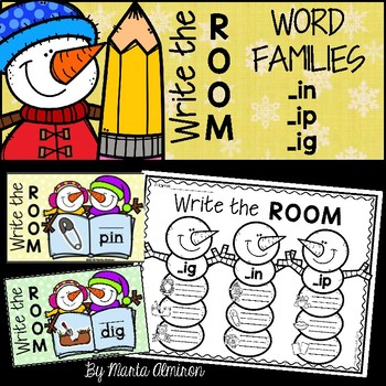 Write the Room {Winter} WORD FAMILIES IN, IG, IP
