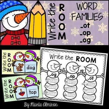 Write the Room {Winter} WORD FAMILIES OT, OG, OP