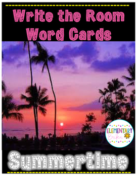 Write the Room & Word Cards- Summertime