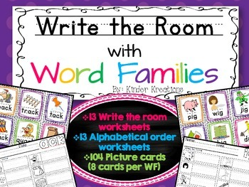 Write the Room - Word Family Bundle