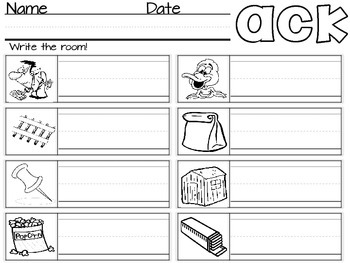 Write the Room: Word Family -ack