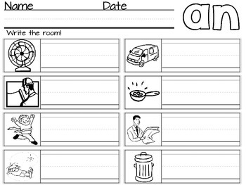 Write the Room: Word Family -an