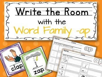 Write the Room: Word Family -ap