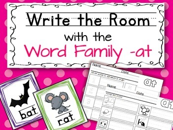 Write the Room: Word Family -at