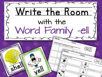 Write the Room: Word Family -ell
