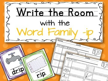 Write the Room: Word Family -ip