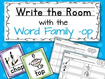 Write the Room: Word Family -op