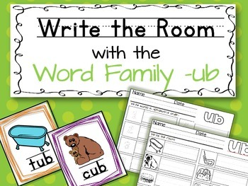 Write the Room: Word Family -ub